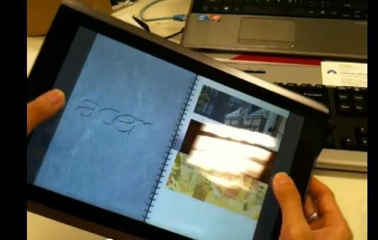 Acer's Android tablet (and its gyroscope) previewed on video