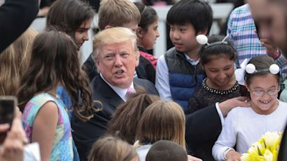 Trump tells kid the border wall is 'being built now'