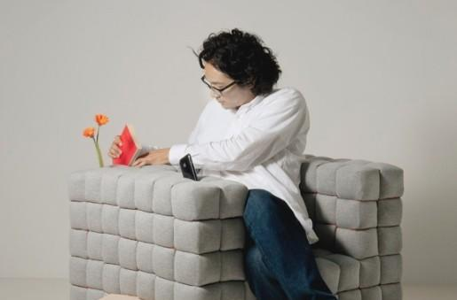Designer sofa encourages you to lose the remote control