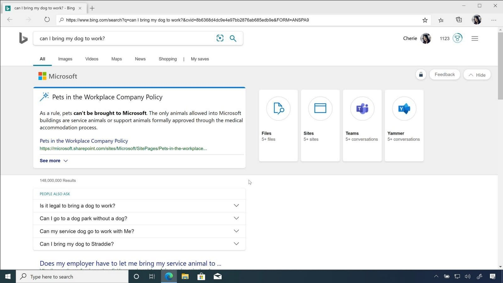 Chromium Edge and Bing