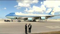 Web Video Extra: President Obama Arrives At Miami International Airport