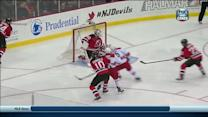 Eric Staal dishes to Tuomo Ruutu to score
