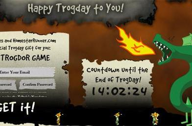 Telltale giving away Trogdor-themed episode of Strong Bad today