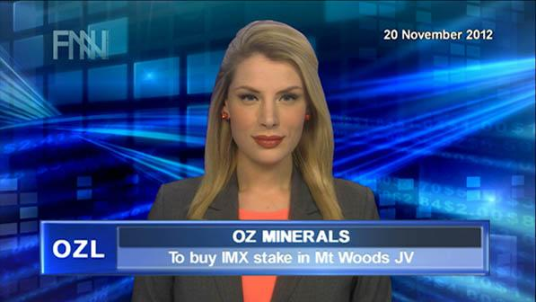 OZL to buy IMX stake in Mt Woods JV