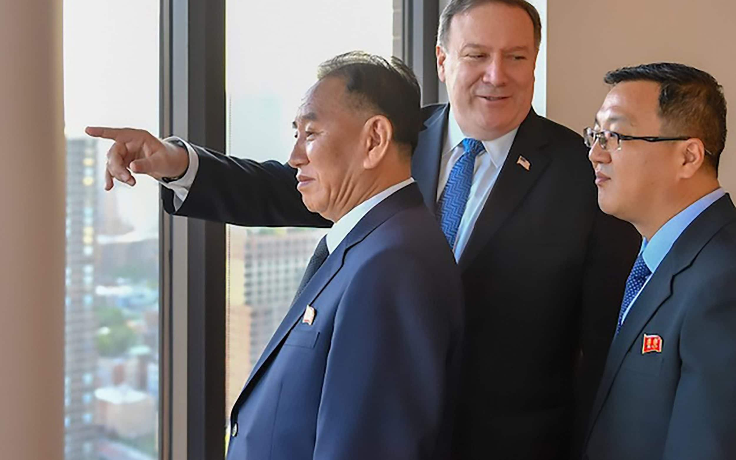 North Korean 'spymaster' Kim Yong-chol meets Mike Pompeo in New York ahead of planned Trump summit