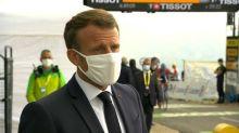 """Emmanuel Macron sur le Tour de France pour """"montrer qu'il faut vivre avec le virus"""""""