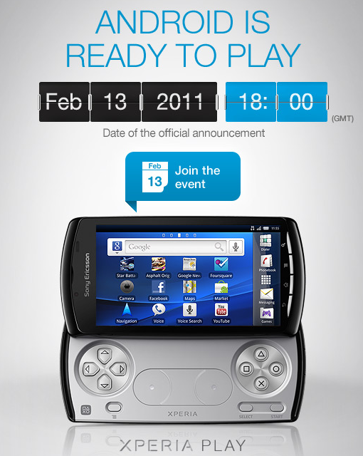 Sony Ericsson makes Xperia Play official in Super Bowl commercial, full launch coming February 13th