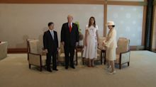 Donald Trump meets new Japanese emperor