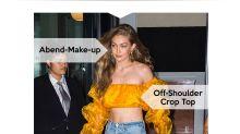 Look des Tages: Gigi Hadid im gelben Off-Shoulder Crop Top
