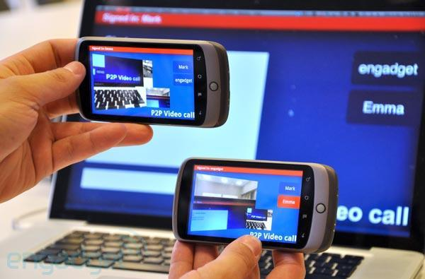 Adobe Air peer-to-peer video call concept Android app hands-on (video)