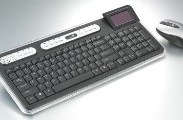 KYE Systems' SlimStar 820 Solargizer Unique keyboard