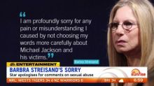 Barbra Streisand apologies for comments on sexual abuse