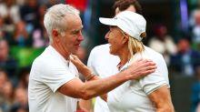 John McEnroe and Martina Navratilova stage protest against Margaret Court