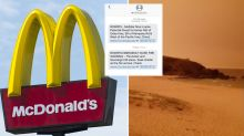 McDonald's staff claim they were ordered to keep working despite emergency bushfire texts