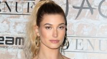 "Hailey Baldwin dancing to Britney Spears's ""Baby One More Time"" in basketball shorts and a sports bra is perfection"