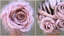 Conheça o penteado com tranças em formato de rosa que está invadindo o Instagram