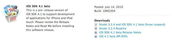 iOS 4.1 seeded to developers (updated)