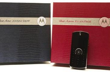 Motorola's star studded partnership continues: E8s for this year's Oscars