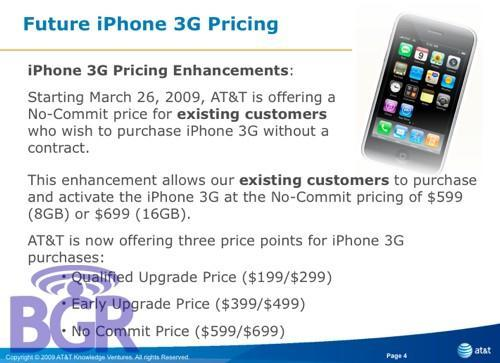 AT&T to offer unsubsidized iPhone 3G with no commitment required?