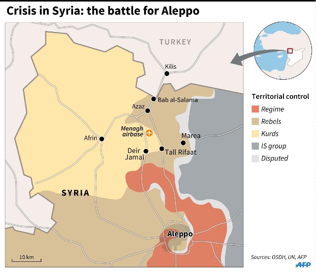 Crisis in Syria: the battle for Aleppo (AFP Photo/)