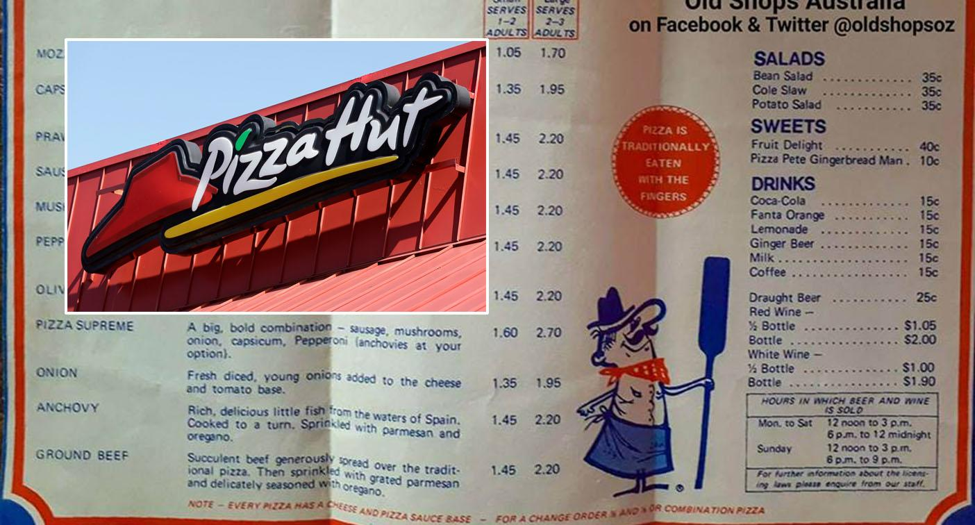 'Look at those prices!': Classic 1970s Australian Pizza Hut menu proves to be a hit online