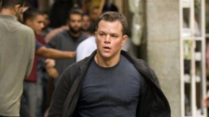 Matt Damon as Jason Bourne in 'The Bourne Supremacy'. (Credit: Universal)