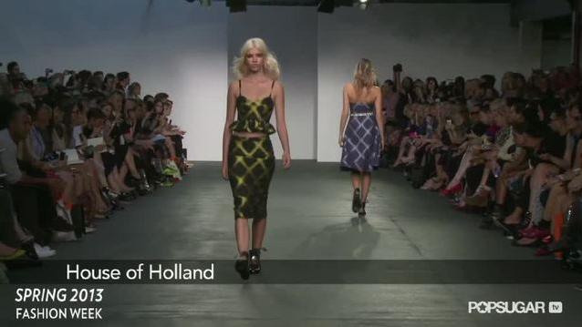 House of Holland's Spring '13 Collection Pays Homage to the '90s