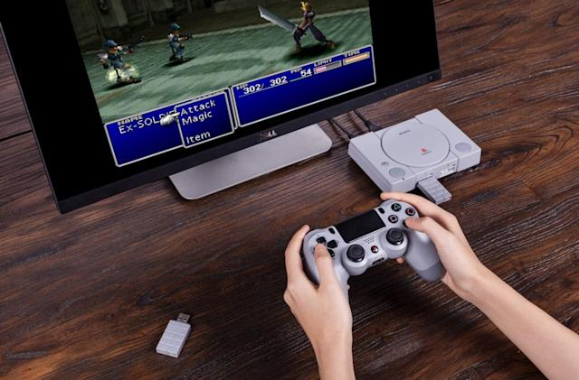 8BitDo adapter adds wireless controller support to PlayStation Classic