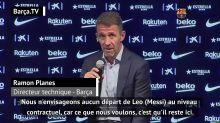 """Barça - Planes : """"Nous n'envisageons pas le départ de Messi"""""""