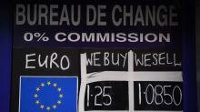 El euro cae a mínimos desde 2017 tras las cifras de la economía alemana