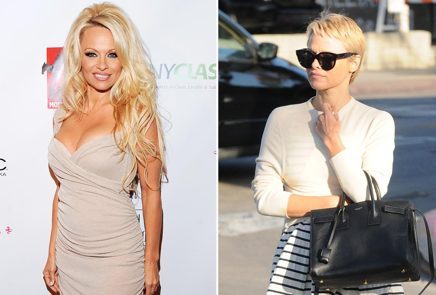 Pamela Anderson Looks Completely Different With A Pixie Cut