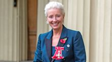 Emma Thompson wears sneakers to be honored at Buckingham Palace: 'I think she should be made Queen'