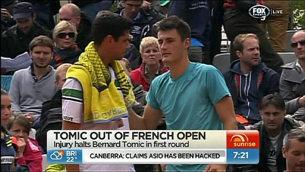 Tomic stands by father after French Open loss