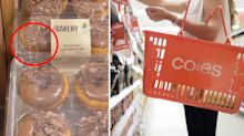 Coles shopper's terrifying find crawling on donuts