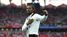 Senegal Coach's Fist-Pumping Celebration Meme Is a Real World Cup Highlight