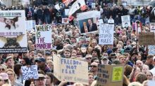 Trafalgar Square anti-lockdown protest shut down by police after thousands of maskless demonstrators ignore social distancing