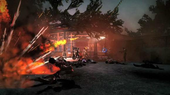 An amusement park full of zombies, care of Left 4 Dead 2