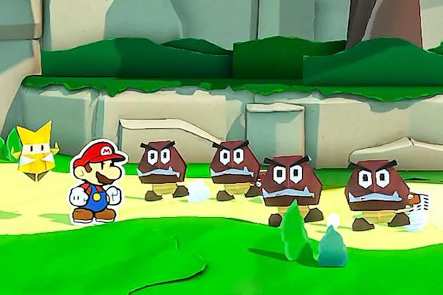 Here's 10 minutes of 'Paper Mario: The Origami King' gameplay