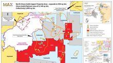 Max agrandit la zone du North Choco pour inclure douze mines d'or historiques et quatre zones d'or notables
