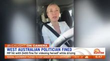 Politician caught filming herself while driving