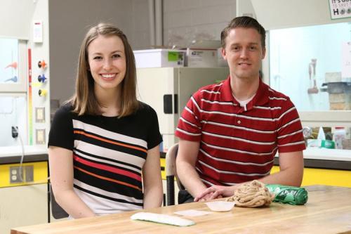 Amber Barron and Jeff Bates at the University of Utah