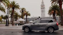 Uber uses a dinosaur to show how you'd control a self-driving car with a smartphone