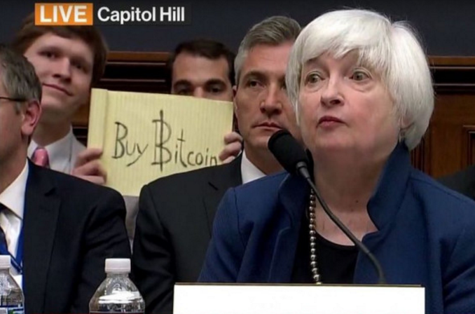 Bitcoin Falls as Miners Sell, Institutions Watch Yellen