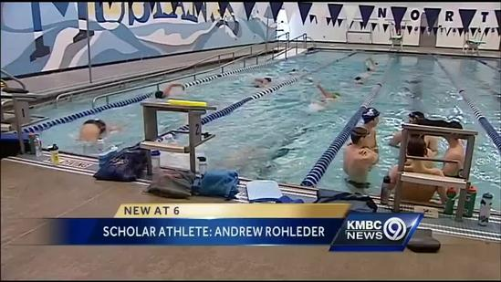 Andrew Rohleder wins scholar-athlete honors