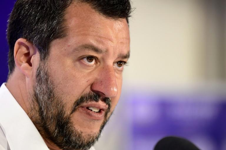 """Italian Deputy Prime Minister and Interior Minister Matteo Salvini accused Rackete of a """"criminal act, an act of war"""" (AFP Photo/Miguel MEDINA)"""