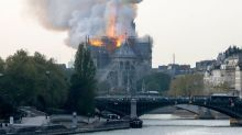 Paris' Notre Dame Cathedral on fire - firefighters