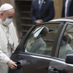The Latest: Pope offers Brazilians hope among soaring deaths