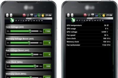 MSI's Afterburner Android app makes GPU overclocking as easy as Facebooking