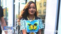 Rihanna Wears $3,690 Bandage-Inspired Sandals