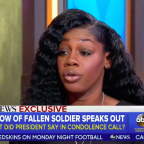 Gold Star Widow Breaks Her Silence on Trump Phone Call: 'It Made Me Cry' (Video)